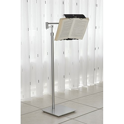 Sturdy and durable, Adjustable floor stand that securely holds smartphones, tablets and readers